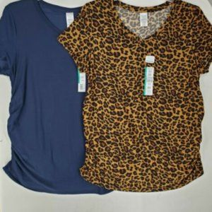 Time and Tru Womens Maternity Top sz XL Lot of 2